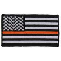 Thin Orange Line American Flag For Search & Rescue | Embroidered Patches