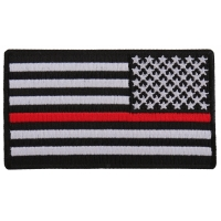 Thin Red Line American Flag Reversed Patch | Embroidered Patches