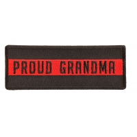 Thin Red Line Proud Grandma Patch