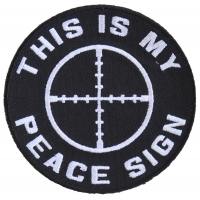 This Is My Peace Sign Patch | Embroidered Patches