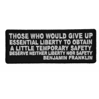 Those Who Give Up Liberty Ben Franklin Quote Patch | Embroidered Patches