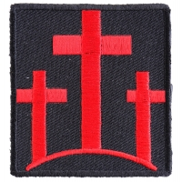 Three Crosses In Red Patch | Embroidered Patches
