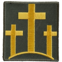 Three Crosses In Yellow Patch | Embroidered Patches