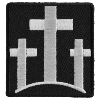 Three Crosses Patch | Embroidered Patches