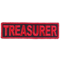 Treasurer Patch Red