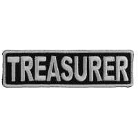 Treasurer Patch 3.5 Inch White