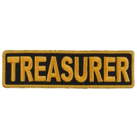 Treasurer Patch 3.5 Inch Yellow