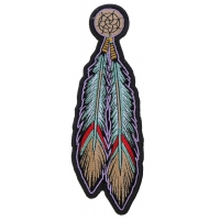 Tribal Feathers Patch | Embroidered Patches