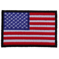 US Flag Black Border Patch 3 Inch | Embroidered Patches