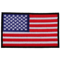Us Flag Patch 4 Inch Black Border | Embroidered Patches