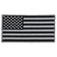 US Flag Patch Black And Gray 3 Inch