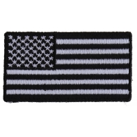US Flag Patch Black And White 2.5 Inch