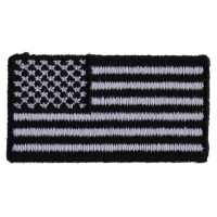US Flag Patch Black And White 2 Inch