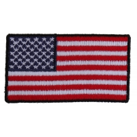 US Flag Patch Black Border 2.5 Inch