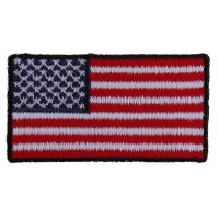 US Flag Patch Black Border 2 Inch