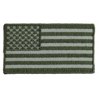 US Flag Patch Earth Green 2.5 Inch