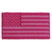 US Flag Patch Pink