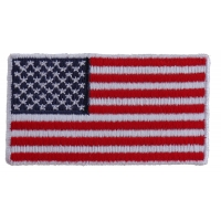 US Flag Patch White Border 2.5 Inches