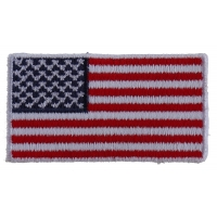 US Flag Patch White Border 2 Inch