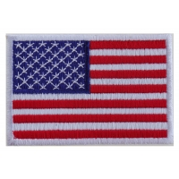 Us Flag White Border Patch | Embroidered Patches