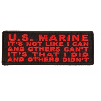 US Marine Corps Patch - I Did And Others Didn't Patch | US Military Veteran Patches