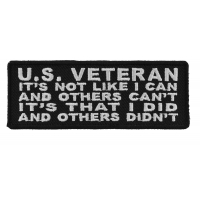 US Veteran I Did And Others Didn't Patch | US Military Veteran Patches