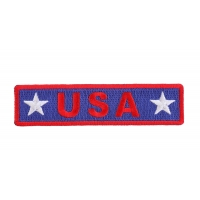 USA Red White Blue Patch