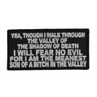 Valley Of The Shadow Of Death Patch | US Military Veteran Patches