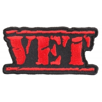 Vet Patch Old Stamper Red | US Military Veteran Patches