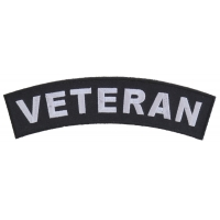 Veteran Medium Size Rocker Patch | US Military Veteran Patches