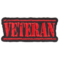 Veteran Patch Old Stamper Red | US Military Veteran Patches