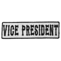 Vice President Patch Black On White