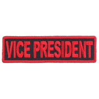 Vice President Patch Red