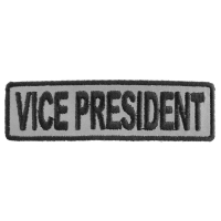 Vice President Patch 3.5 Inch Reflective | Embroidered Patches
