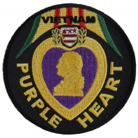Vietnam Purple Heart Patch | US Military Vietnam Veteran Patches