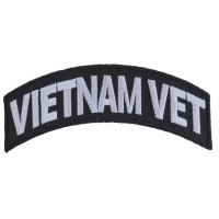 Vietnam Vet Patch White Rocker | US Military Vietnam Veteran Patches