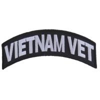 Vietnam Vet Patch White Rocker | US Military Vietnam Veteran Patches
