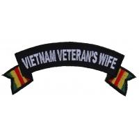Vietnam Veteran's Wife Rocker Patch | US Military Vietnam Veteran Patches