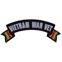 Vietnam War Vet Ribbon Small Rocker | US Military Vietnam Veteran Patches