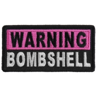 Warning Bombshell Patch | Embroidered Patches