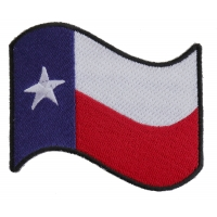Waving Texas Flag Patch | Embroidered Patches