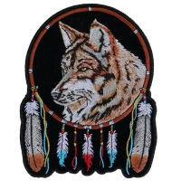 Wolf And Feathers Medium Patch | Embroidered Patches