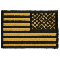 Yellow Black American Flag Reversed Patch | Embroidered Patches