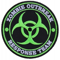 Zombie OutBreak Response Team Green Patch | Embroidered Patches