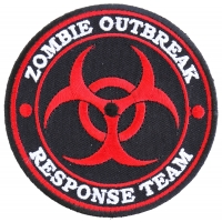 Zombie OutBreak Response Team Red Patch | Embroidered Patches
