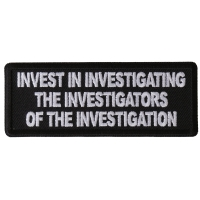 Invest in Investigating the Investigators of the Investigation Patch