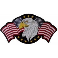 Star Spangled Banner Eagle Large Back Patch