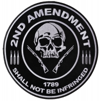 2nd Amendment Skull 1789 Large Patch | US Military Veteran Patches