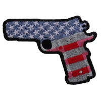 9 Mm Gun With US Flag Patch