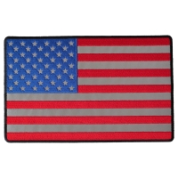 American Flag Large Reflective Patch | Embroidered Patches